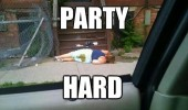 party hard drunk funny girl meme pic picture lol