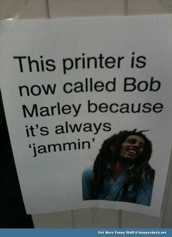 bob marley jammin printer funny pics pictures pic picture image photo images photos lol