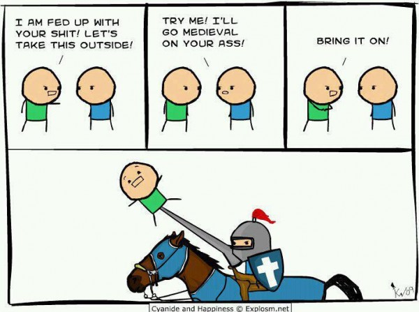 cyanide and happiness comic funny pics pictures pic picture image photo images photos lol medieval