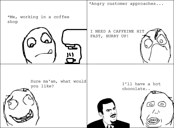 funny pic picture lol rage comic hot chocolate