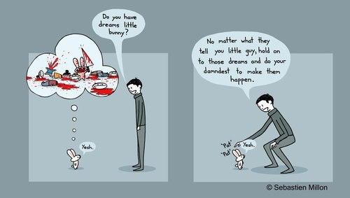 funny lol pic picture killer bunny comic