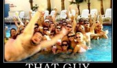 fat guy photo bomb pool funny pics pictures pic picture image photo images photos lol