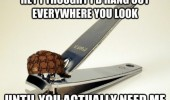 scumbag nail clippers meme funny pics pictures pic picture image photo images photos lol