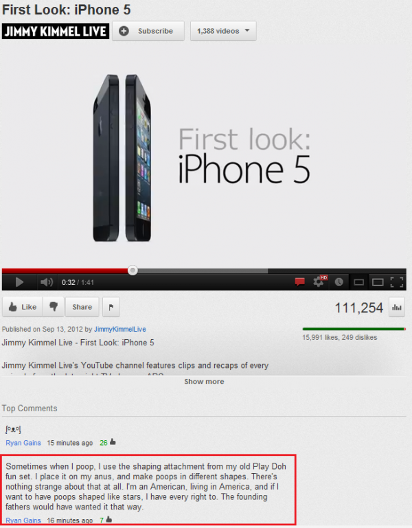wtf you tube random comment iphone apple funny pics pictures pic picture image photo images photos lol