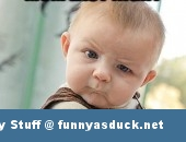 funny pic picture lol skeptical baby meme