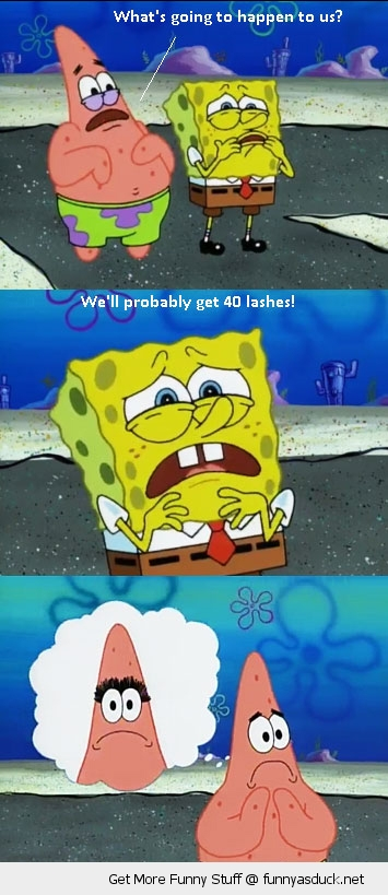 patrick spongebob 40 lashes tv scene funny pics pictures pic picture image photo images photos lol