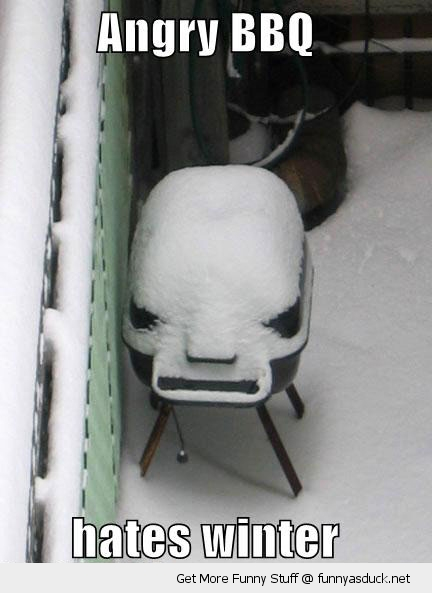 angry bbq snow winter funny pics pictures pic picture image photo images photos lol