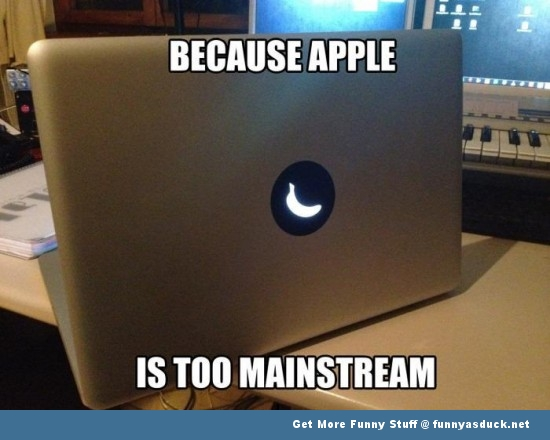 apple banana macbook laptop mainstream funny pics pictures pic picture image photo images photos lol