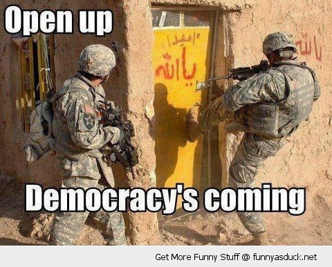 soldiers democracy door open up funny pics pictures pic picture image photo images photos lol