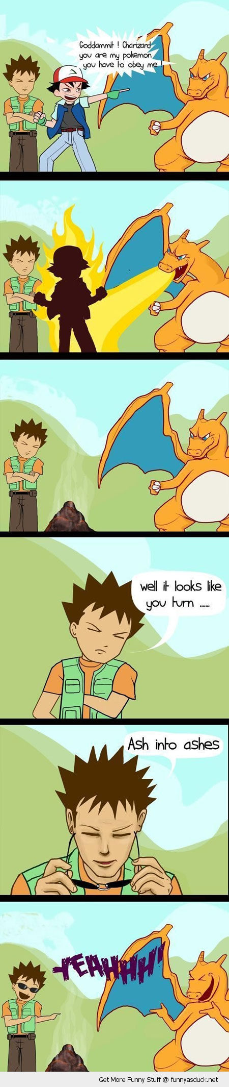 ash ashes charzard pokemon gaming nintendo comic funny pics pictures pic picture image photo images photos lol