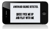 awkward silence phone apple funny pics pictures pic picture image photo images photos lol