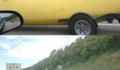 banana car peel away freeway funny pics pictures pic picture image photo images photos lol