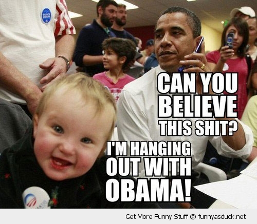 believe this hanging obama baby smiling kid president funny pics pictures pic picture image photo images photos lol