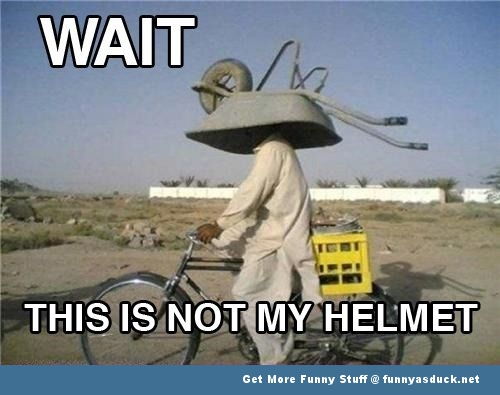 wheel barrow helmet bike meme funny pics pictures pic picture image photo images photos lol