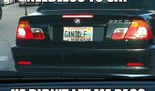 gandalf car license plate not pass bmw movie funny pics pictures pic picture image photo images photos lol