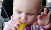 kid with lemon chill tasting mistake baby funny pics pictures pic picture image photo images photos lol