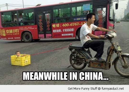 meanwhile china boy kid baby motor bike crate funny pics pictures pic picture image photo images photos lol