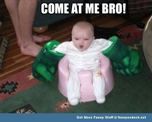 come at me bro baby hulk smash funny pics pictures pic picture image photo images photos lol