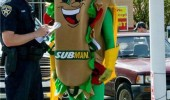 delicious crime subway mascot funny pics pictures pic picture image photo images photos lol