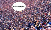 need to pee crowd help funny pics pictures pic picture image photo images photos lol