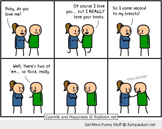 cyanide and happiness love boobs comic funny pics pictures pic picture image photo images photos lol