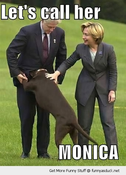 bill Hilary clinton dog monica animal funny pics pictures pic picture image photo images photos lol