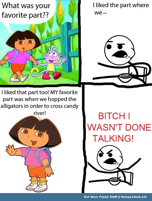 dora explorer ceral guy rage comic meme funny pics pictures pic picture image photo images photos lol