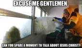 excuse me polar bear jesus christ animal funny pics pictures pic picture image photo images photos lol