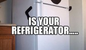 refrigerator excuse me mam running fridge kitchen funny pics pictures pic picture image photo images photos lol