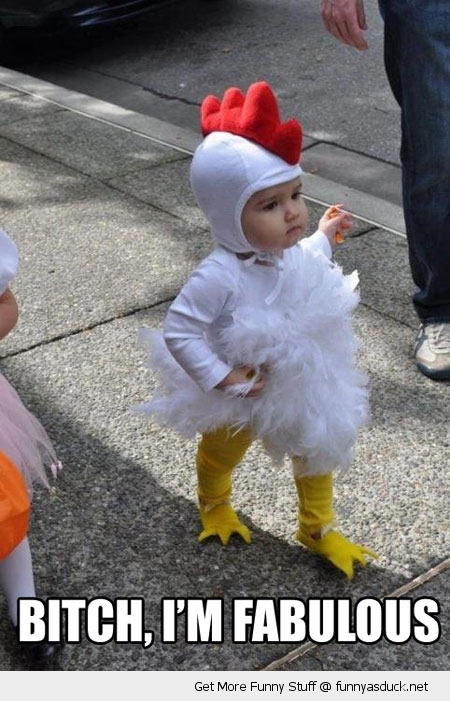 baby chicken costume fabulous kid haloween funny pics pictures pic picture image photo images photos lol