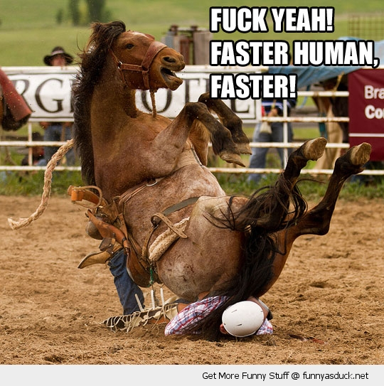 faster human horse falling man rodeo accident funny pics pictures pic picture image photo images photos lol