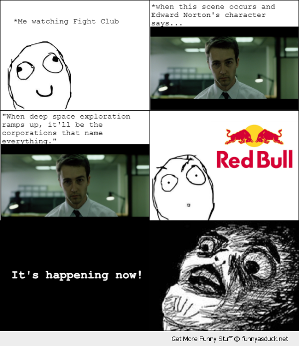 fight club felix baumgarter rage comic red bull funny pics pictures ...