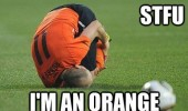 i'm an orange football soccer player rolled ball funny pics pictures pic picture image photo images photos lol