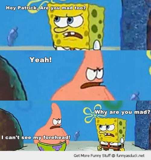 spongebob patrick mad forehead Nickelodeon tv scene funny pics pictures pic picture image photo images photos lol