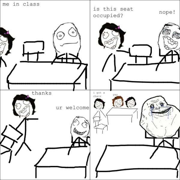 rage comic meme forever alone chair school funny pics pictures pic ...
