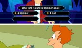 fry futurama nail millionaire hammer meme funny pics pictures pic picture image photo images photos lol