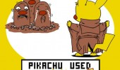 pikachu flash pokemon dig dug rude gaming funny pics pictures pic picture image photo images photos lol