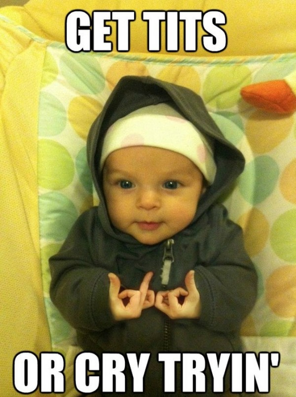 gangster baby gangsta 50 cent hip hop funny pics pictures pic picture image photo images photos lol