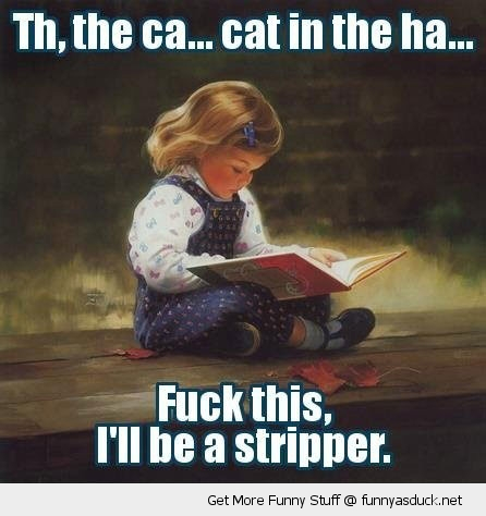 girl kid book fuck this stripper funny pics pictures pic picture image photo images photos lol