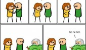 cyanide and happiness god watching comic funny pics pictures pic picture image photo images photos lol