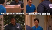 drake and josh delivery guy tell what to do tv scene funny pics pictures pic picture image photo images photos lol