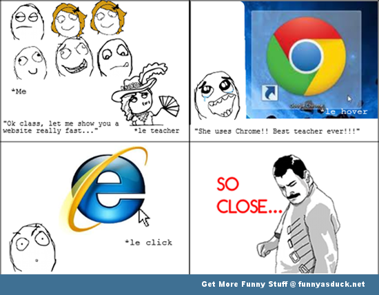 chrome internet explorer rage comic teacher meme funny pics pictures ...