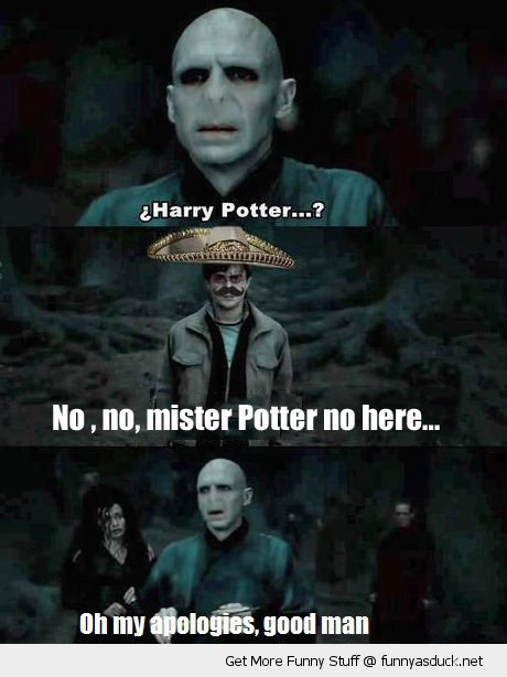 harry potter no here mexican movie scene voldemort funny pics pictures pic picture image photo images photos lol