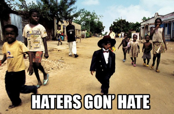 haters gon hate black kid africa village suit hat funny pics pictures pic picture image photo images photos lol