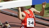 hurdler athletics guy walks bar face fall funny pics pictures pic picture image photo images photos lol