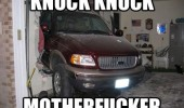 knock motherfucker car crashed house truck funny pics pictures pic picture image photo images photos lol