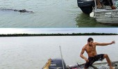 man boat crocodile attack lizard animal funny pics pictures pic picture image photo images photos lol