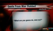 man stabbed news report quote funny pics pictures pic picture image photo images photos lol