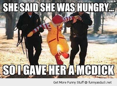 ronald mcdonald hungery arrested police mcdick funny pics pictures pic picture image photo images photos lol