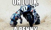 look a penny bike crash funny pics pictures pic picture image photo images photos lol